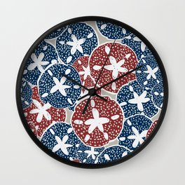 Somewhere on a Beach: Collecting Sand Dollars Wall Clock