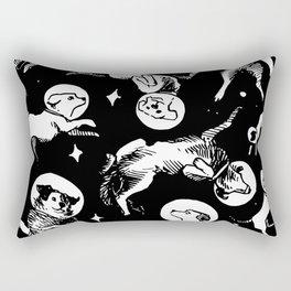 Space Dogs Rectangular Pillow