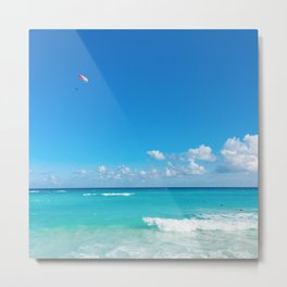 Parasailing in Cancun Metal Print