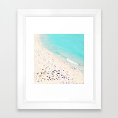 beach love III square Framed Art Print