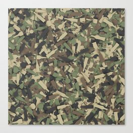 Forest alcohol camouflage Canvas Print