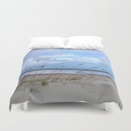 Sea Oats in the Wind Duvet Cover