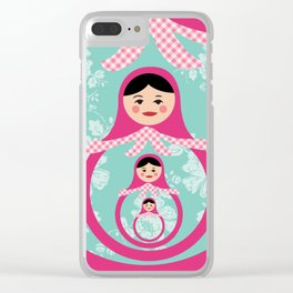 Nesting Russian dolls Clear iPhone Case