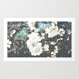 Brushy island Art Print