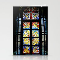 stained glass Stationery Cards featuring Stained Glass by Sean Foreman
