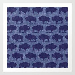 Buffalo Bison Pattern 292 Art Print