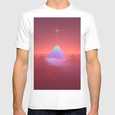 Blue Pyramid MEDIUM White Mens Fitted Tee