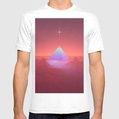 Blue Pyramid White MEDIUM Mens Fitted Tee