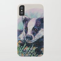 badger iPhone & iPod Cases featuring Badger by Sarah Jane Bradley