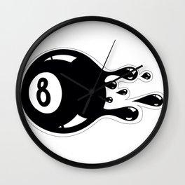 Pool drop Wall Clock
