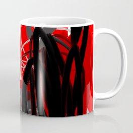 Red, Black & Gray Abstract Coffee Mug