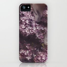 Lilacs in water iPhone Case
