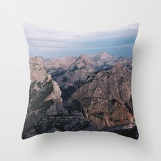 Just mountains Throw Pillow