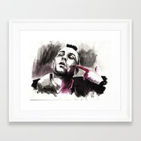 taxi driver Framed Art Prints featuring Taxi Driver by Juan Pablo Cortes