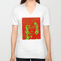 chad wys V-neck T-shirts featuring chad for murder by Chad M. White