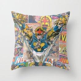 Nova Comic Art Throw Pillow
