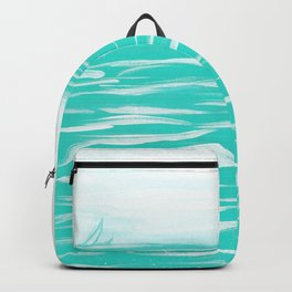 Sailing Across A Turquoise Sea Backpack