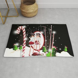 Ms. Santa's Whispering Candy Cane Rug