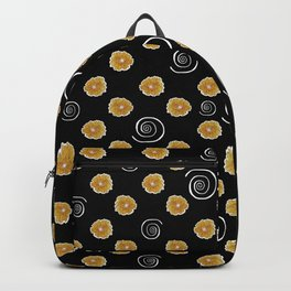 Spiral and yellow flowers Backpack