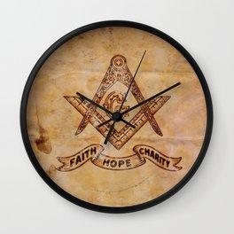 Sacred Freemasonic Symbolism by PB Wall Clock