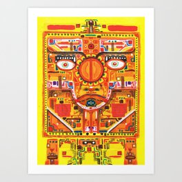 Kan Yellow Seed Art Print