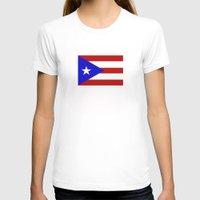 puerto rico T-shirts featuring puerto rico country flag star by tony tudor