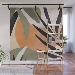 Abstract Art Tropical Leaves 2 Wall Mural