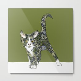 William Morris cat Metal Print