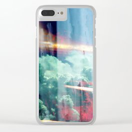 glitch cloud 8. Clear iPhone Case