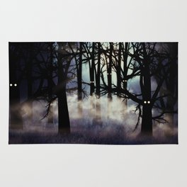 Halloween forest Rug