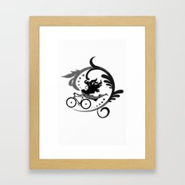 Star Girl Bike Swirl Framed Art Print