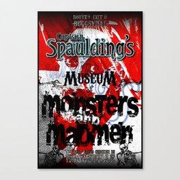 Capt. Spaulding's Museum Poster Canvas Print