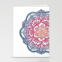 bedding Stationery Cards featuring Radiant Medallion Doodle by micklyn