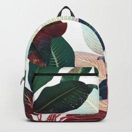 tropical wild leaves Backpack