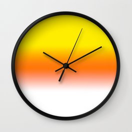 Yellow Orange and White Halloween Candy Corn Wall Clock