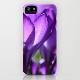 purple light iPhone Case