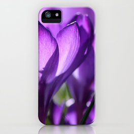 purple light iPhone Case
