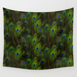 Peacock Feather Plummage Wall Tapestry