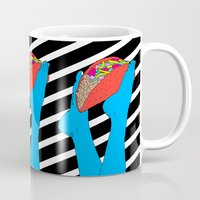 taco Mugs featuring Taco Time by Tyler Spangler