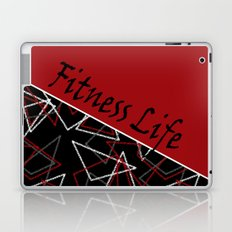 The fitness club . Red black creative pattern . Laptop & iPad Skin