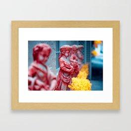 Little Statues Framed Art Print