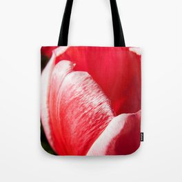 Pink Tulip Closeup Photography Print Tote Bag