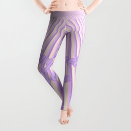 "Abstract Geometric stripes and ""My sweet unicorn"" text Leggings"