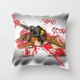 Furious George Throw Pillow