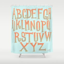 the ABC's Shower Curtain