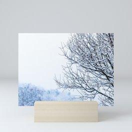 Snowy tree Mini Art Print