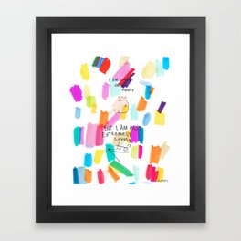 Lonely On My Ownly Framed Art Print