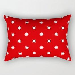 stars 57- red Rectangular Pillow