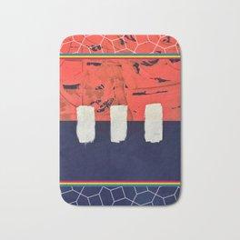 Stitch in Time - color square graphic Bath Mat
