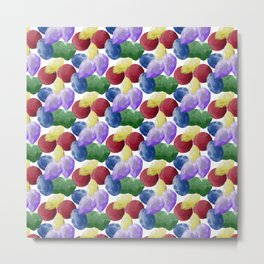 Multicolor Gemstones Metal Print